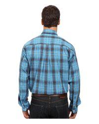 Cinch - Blue Long Sleeve Plain Weave Plaid for Men - Lyst