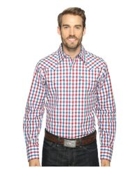 Stetson | Red 0902 Ombre Check Snap for Men | Lyst