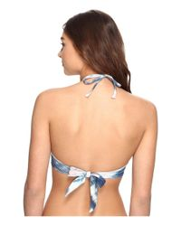 Billabong   Blue Tidalwave High Neck Bikini Top   Lyst