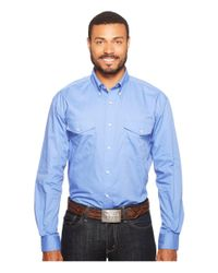 Roper - Blue 0856 Solid Poplin - Periwinkle for Men - Lyst