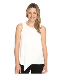 Vince Camuto   White Sleeveless Asymmetrical Layered Blouse   Lyst