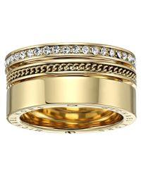Michael Kors | Gray Brilliance Pavé Crystal Open Twist Ring | Lyst