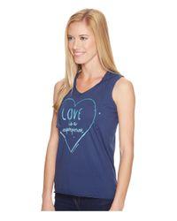 Life Is Good. - Blue Love Hoodie Smooth Tee - Lyst