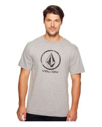Volcom | Gray Lino Stone T-shirt for Men | Lyst
