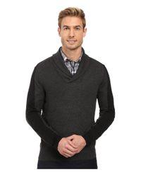 Perry Ellis - Black Color Block Shawl Collar Pullover for Men - Lyst