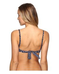 Maaji - Blue Nostalgia Mesh Underwire Top W/ Graduated Booster Cups - Lyst