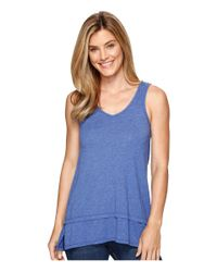 Mod-o-doc | Blue Heather Jersey Banded Tank Top | Lyst