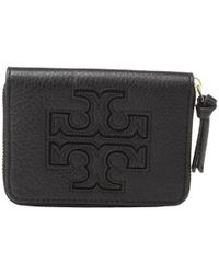 Tory Burch | Black Harper Zip Coin Case | Lyst