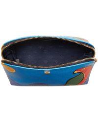 Tory Burch - Blue Kerrington Parrot Cosmetic Case - Lyst