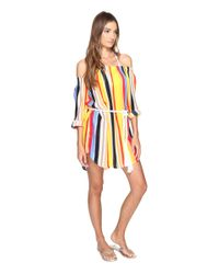 Red Carter | Multicolor Sunset Haze Off Shoulder Rayon Cover-up | Lyst