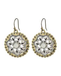 Lucky Brand - Metallic Floral Drop Earrings - Lyst