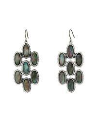 Lucky Brand | Metallic Mother-of-pearl Chandelier Earrings | Lyst