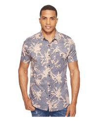 Rip Curl   Black Palm Time Short Sleeve Shirt for Men   Lyst