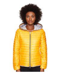 Duvetica | Yellow Eeria Full Zip Hoodie | Lyst