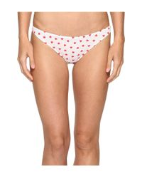 Only Hearts | White Heritage Heart Supima Cotton Bikini | Lyst