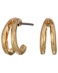 The Sak | Metallic Split Huggie Hoop Earrings | Lyst