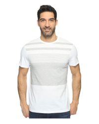 Calvin Klein   White Pima Cotton Stripe Tee for Men   Lyst