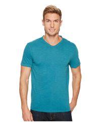 Calvin Klein Jeans | Blue Mixed Media V-neck Tee for Men | Lyst