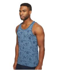 Original Penguin - Blue Double Bound Floral Printed Tank Top for Men - Lyst