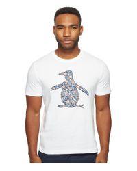 Original Penguin - White Short Sleeve Floral Pete Fill Tee for Men - Lyst