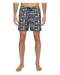 Original Penguin | Blue Nautical Flag Printed Swim Shorts for Men | Lyst