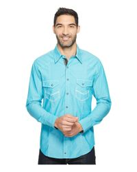 Rock And Roll Cowboy | Blue Long Sleeve Snap B2s2068 for Men | Lyst