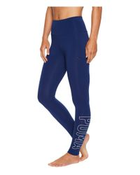PUMA | Blue Athletic Leggings | Lyst