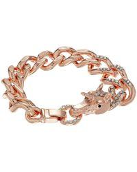Betsey Johnson | Multicolor Pave Pegasus Link Bracelet | Lyst