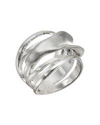 Robert Lee Morris | Metallic Sculptural Silver Cut Out Ring | Lyst
