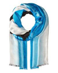 Calvin Klein - Blue Printed Pashmina - Lyst