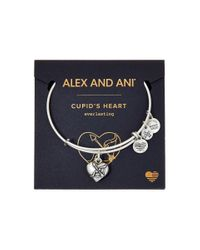 ALEX AND ANI | Metallic Path Of Symbols - Cupid's Heart Ii Charm Bangle | Lyst