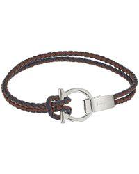 Ferragamo   Multicolor Gancio Woven Bracelet   Lyst