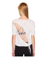 Alo Yoga - White Entwine Short Sleeve Top - Lyst