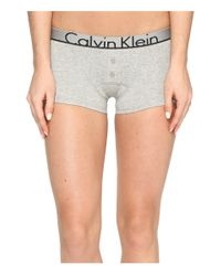 Calvin Klein | Gray Ck Id Cotton Large Waist Band Trunk | Lyst