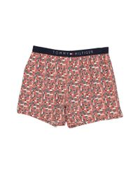 Tommy Hilfiger | Red Icon Slim Woven Boxer for Men | Lyst