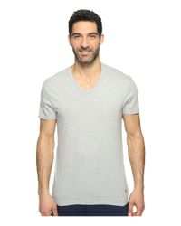 Polo Ralph Lauren - Gray 3-pack V-neck T-shirt for Men - Lyst