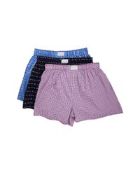Tommy Hilfiger - Blue Woven Boxer 3-pack for Men - Lyst