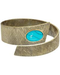 House of Harlow 1960 | Multicolor Tanta Crosshatch Bangle | Lyst