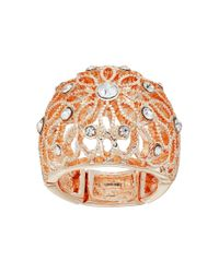 Guess - Multicolor Filigree Flower Dome Ring - Lyst