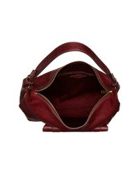 Fossil - Red Cleo Hobo - Lyst