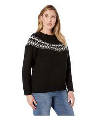 Lauren by Ralph Lauren Plus Size Wool-blend Sweater (polo Black Multi) Sweater