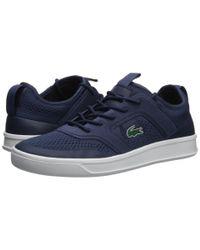 Lacoste Blue Explorateur Light 2181 (navy Fluorescent Yellow) Shoes for men