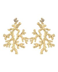 Lilly Pulitzer - Metallic Coral Reef Earrings - Lyst