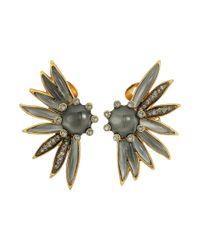 Oscar de la Renta - Multicolor Lace Long Drop C Earrings - Lyst