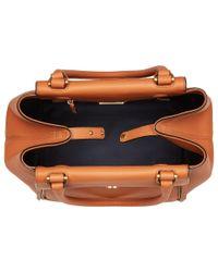Tory Burch - Brown Half-moon Tote (classic Tan) Handbags - Lyst