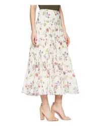 Lauren by Ralph Lauren - Multicolor Tiered Cotton-blend Skirt (chalk Multi) Women's Skirt - Lyst