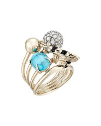 Alexis Bittar - Metallic Enameled Hornet Orbiting Band Ring - Lyst