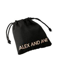 ALEX AND ANI | Metallic Words Are Powerful - Seaside Peace Love Music Bangle Bracelet | Lyst