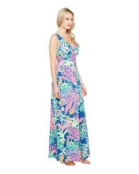 Lilly Pulitzer - Blue Sloane Maxi Dress - Lyst