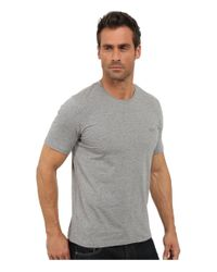 BOSS - Gray Logo-detail Stretch-cotton T-shirt for Men - Lyst